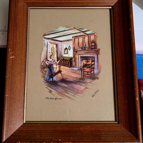 Vintage Wood Framed Signed Print